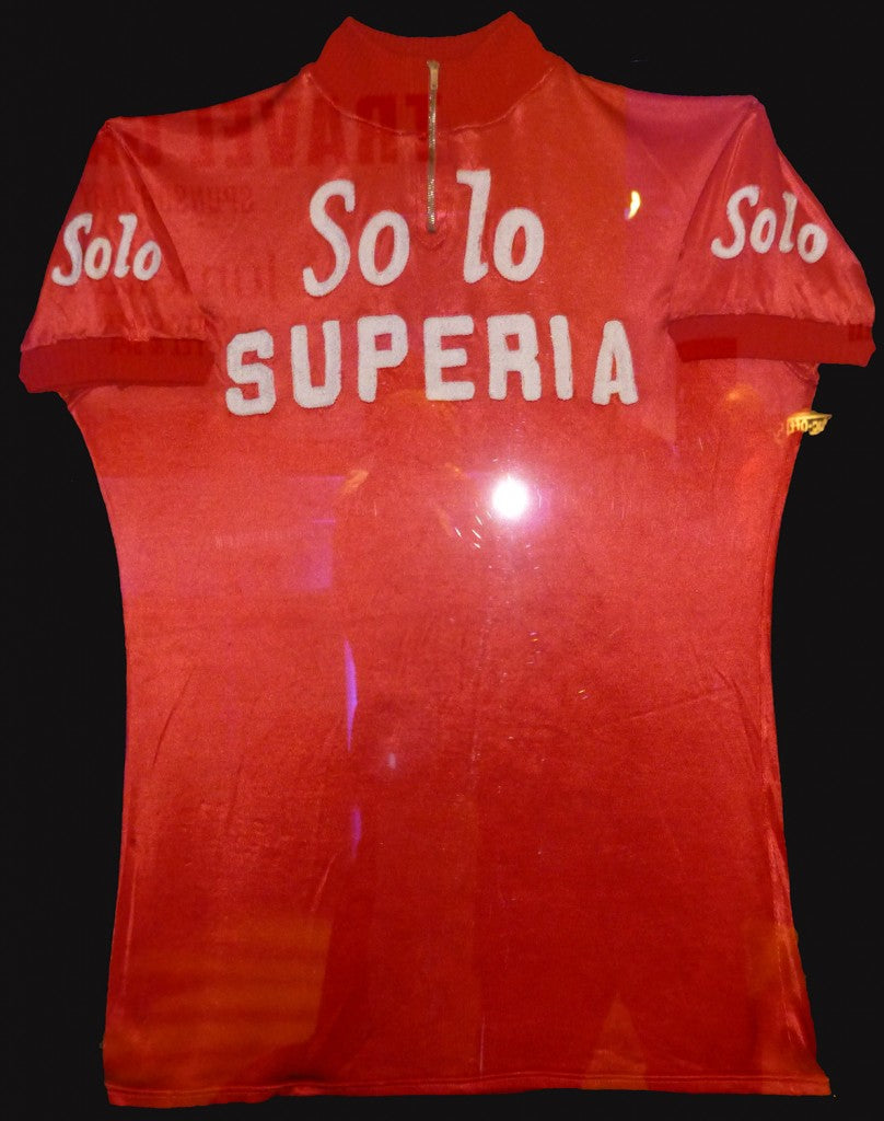 Eddy Merckx turned pro in 1965 with Rik van Looy's Solo-Superia team.