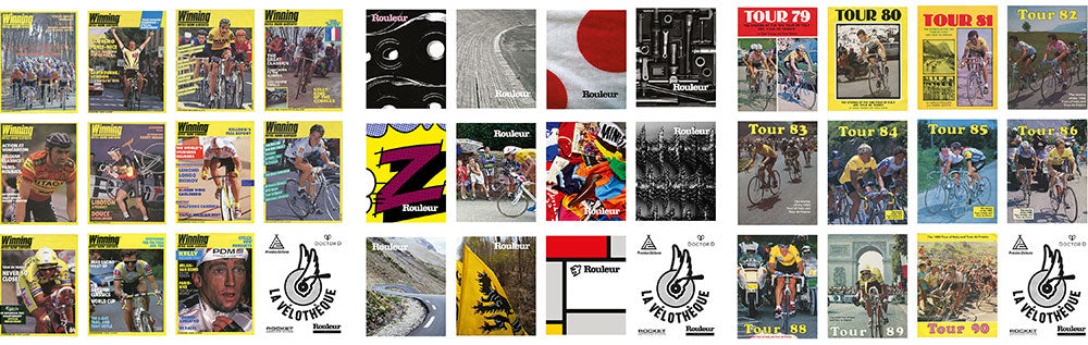 Winning magazine, Rouleur Magazine and Kennedy Book Tour Book covers
