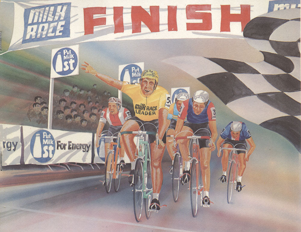 Put Milk 1st for energy! Artwork from the 1981 race manual, that details every stage the riders rode of the 1,080.5 mile (1739km) route.