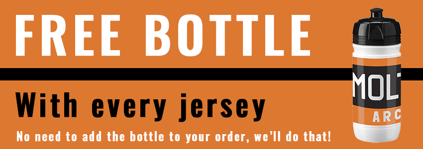 FREE BOTTLE: Buy the jersey, we'll send you a matching bottle for free.