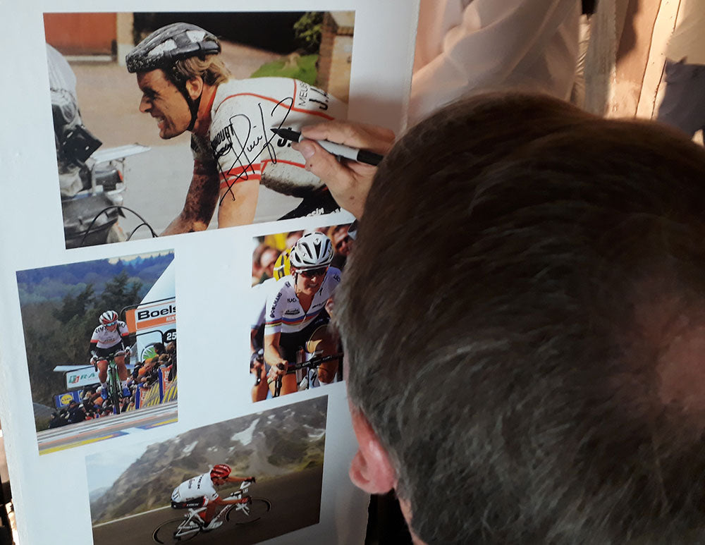 Hennie Kuiper signing our wall at the Rouleur Classic in 2017