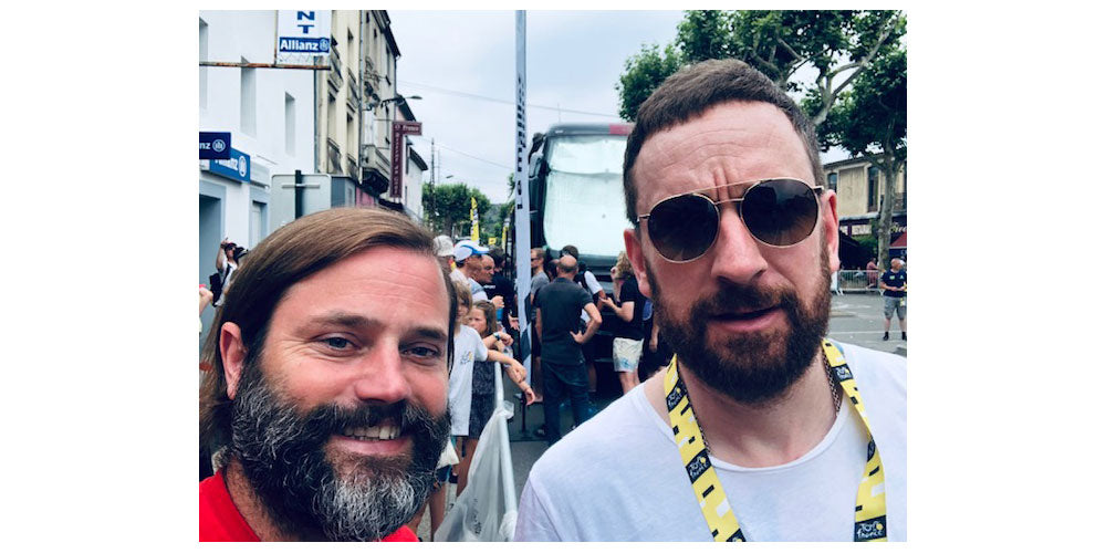 With Sir Bradley Wiggins!