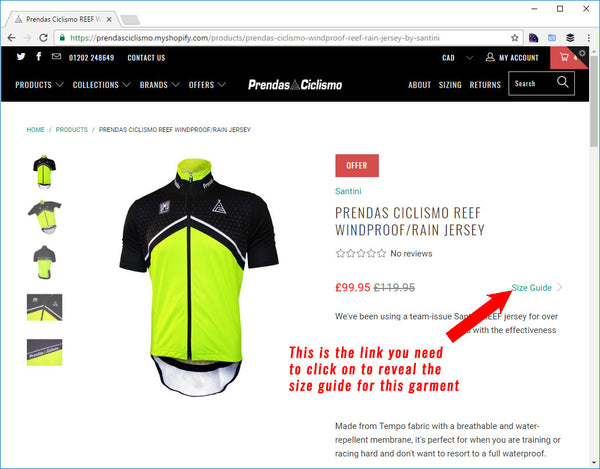 0a6368d71 Sizing guides for our cycle clothing - Prendas Ciclismo