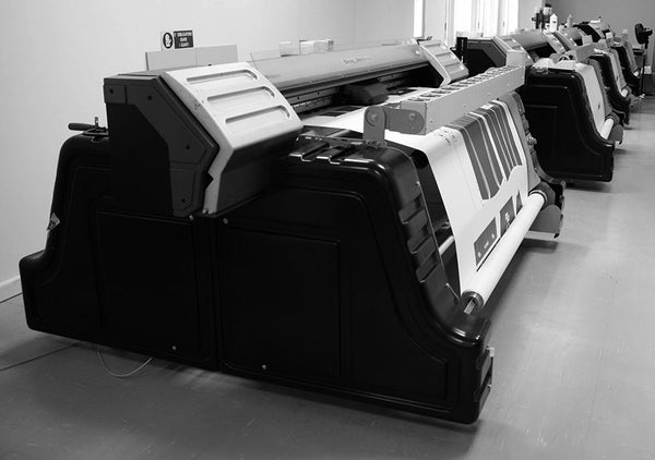 These digital wide format printers are busy at Santini printer transfer papers.