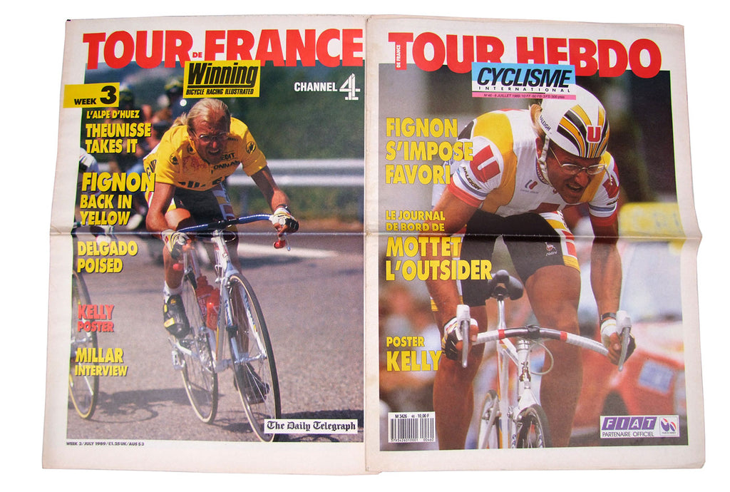 Winning Magazine Cover Stars: The English and French language versions side by side.