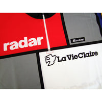 Radar and La Vie Claire Logos Faithfully Reproduced on the Front
