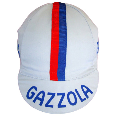 A Stitched Red and Blue Ribbon Features on the Cap