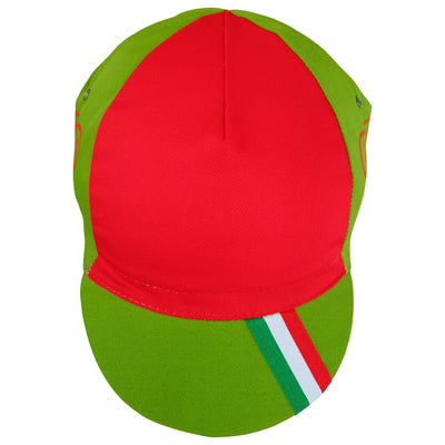 Front View of the Legnano Cap With Tricolore Peak