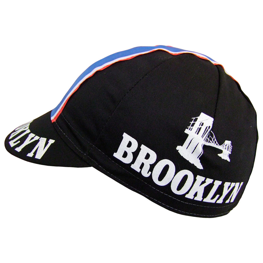 Brooklyn Retro Black Cotton Cap