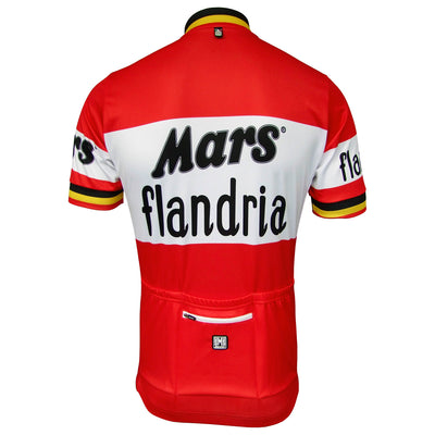 Mars Flandria Retro Jersey From The Back