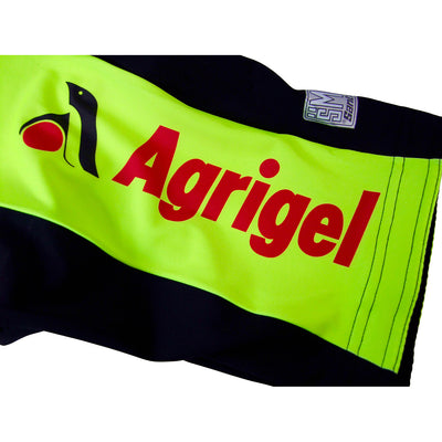 The Agrigel Logo Features on the Right Leg