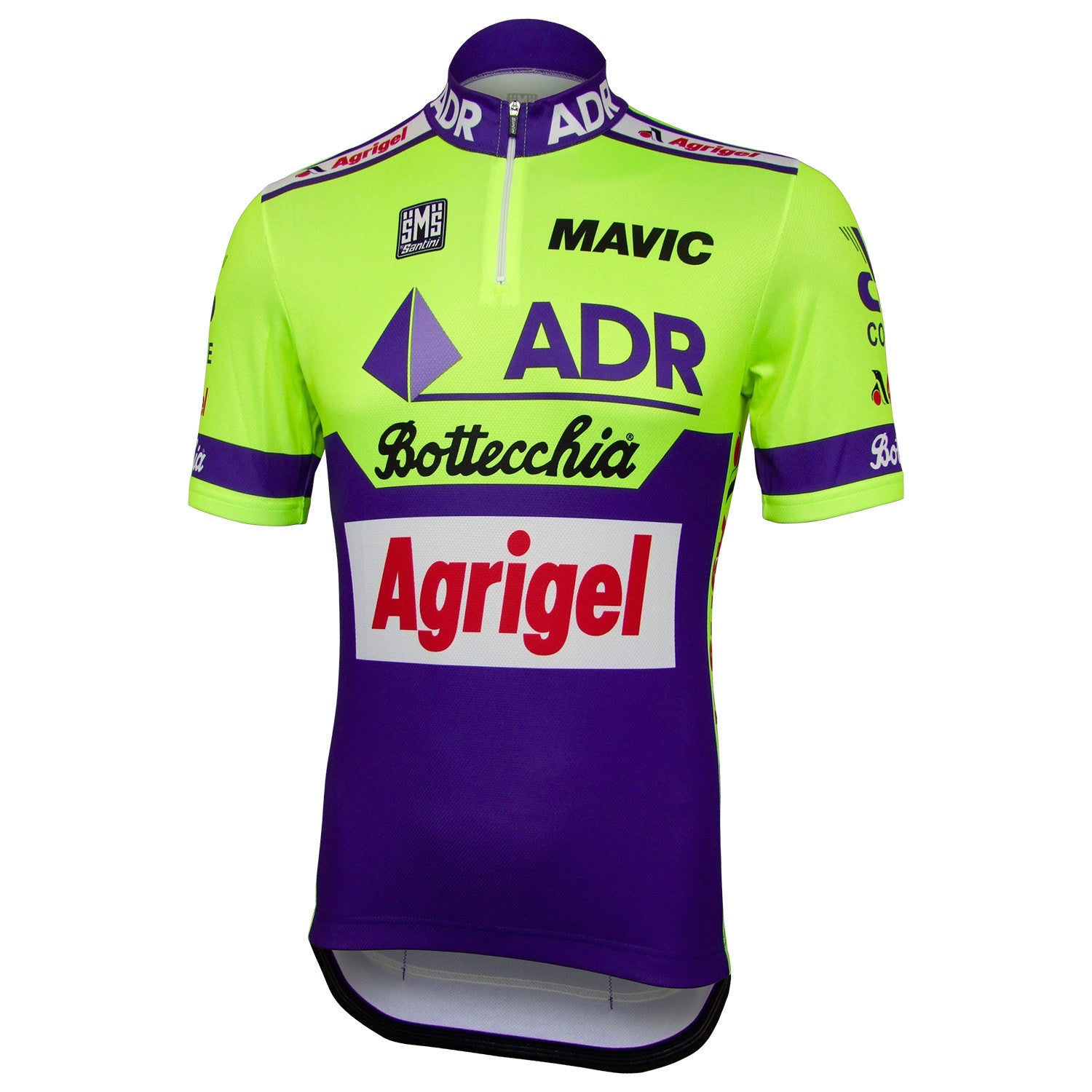 ADR/Agrigel/Bottecchia 1989 Retro Team Jersey (14cm Zip)