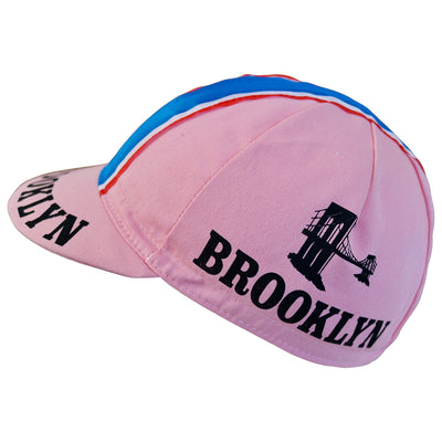 Both Sides of the Pink Brooklyn Cap Feature the Famous Brooklyn Bridge