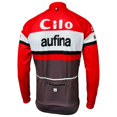 Rear View of the Long Sleeve Cilo/Aufina Retro Jersey