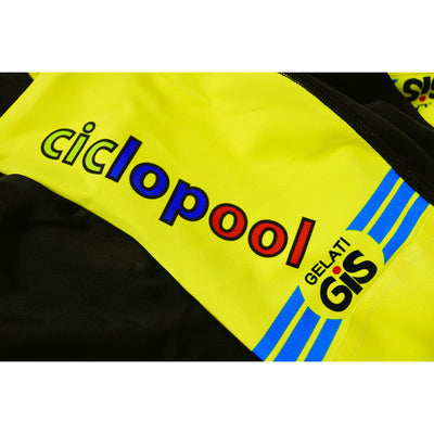 The Ciclopool & GiS Gelati Logos Features on Both Legs