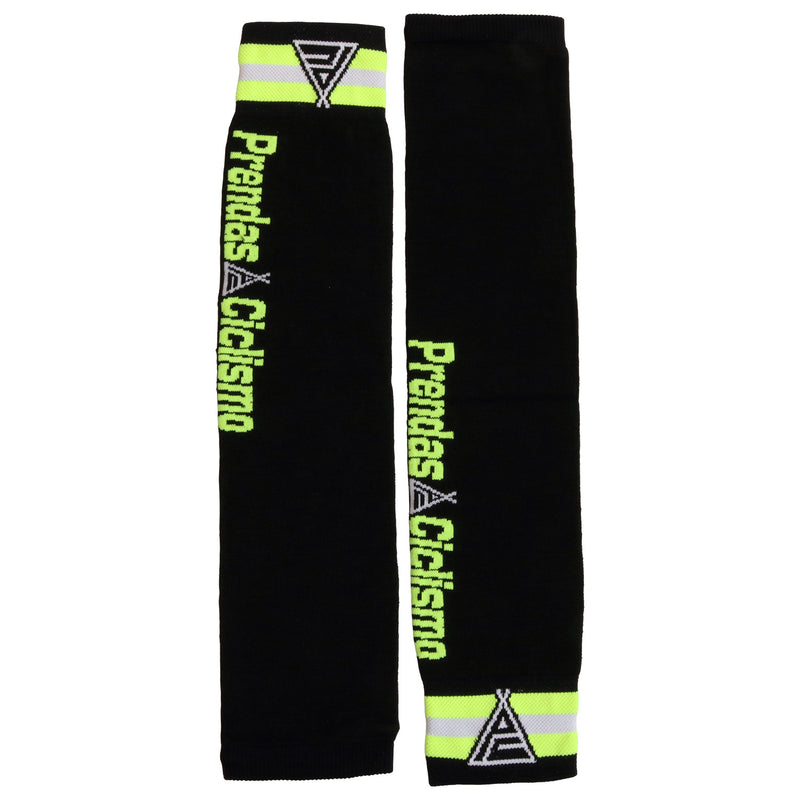 Prendas Meraklon Black/Fluro/Yellow Arm Warmers