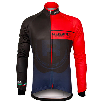 Front of the Rocket Espresso Milano Long Sleeve 2.0 featuring a fully covered front zip.