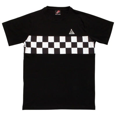 Service Courses Checkerboard Black T-Shirt