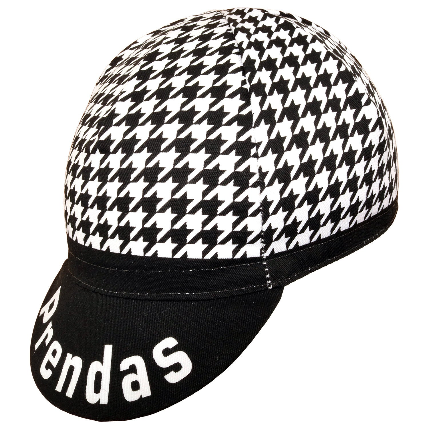 Prendas Houndstooth Cotton Cycling Cap