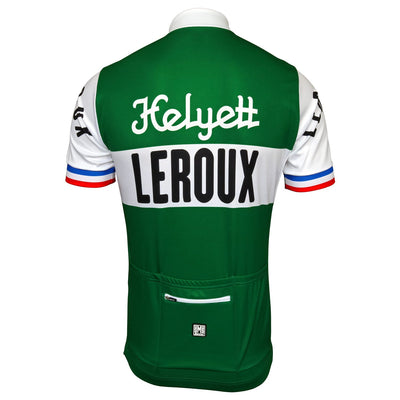 Helyett / LeRoux Retro Team Jersey from the back