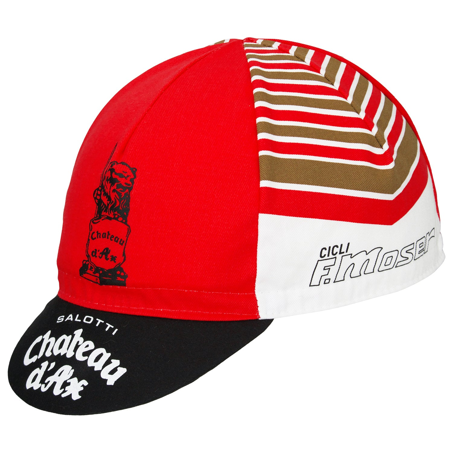 Side view of the Chateaux D'Ax Salotti F. Moser Retro Cotton Cap