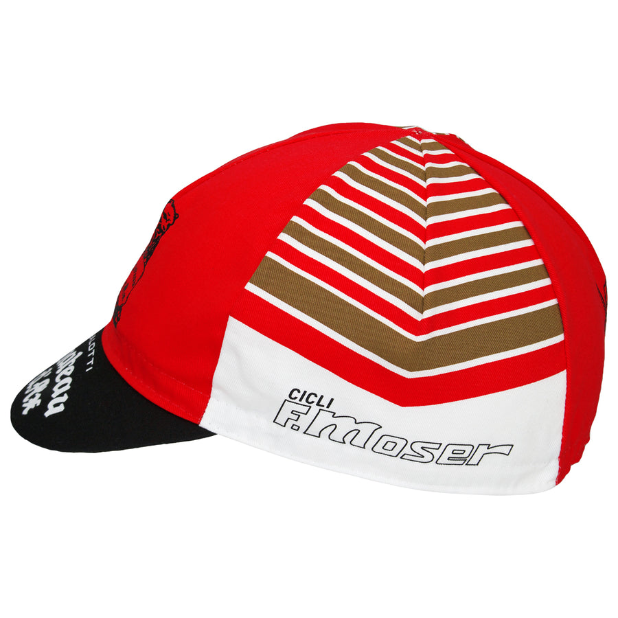 Chateaux D'Ax Salotti F. Moser Retro Cotton Cycling Cap