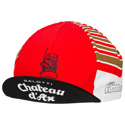 Peak up, front view of the Chateaux D'Ax Salotti F. Moser Retro Cotton Cap