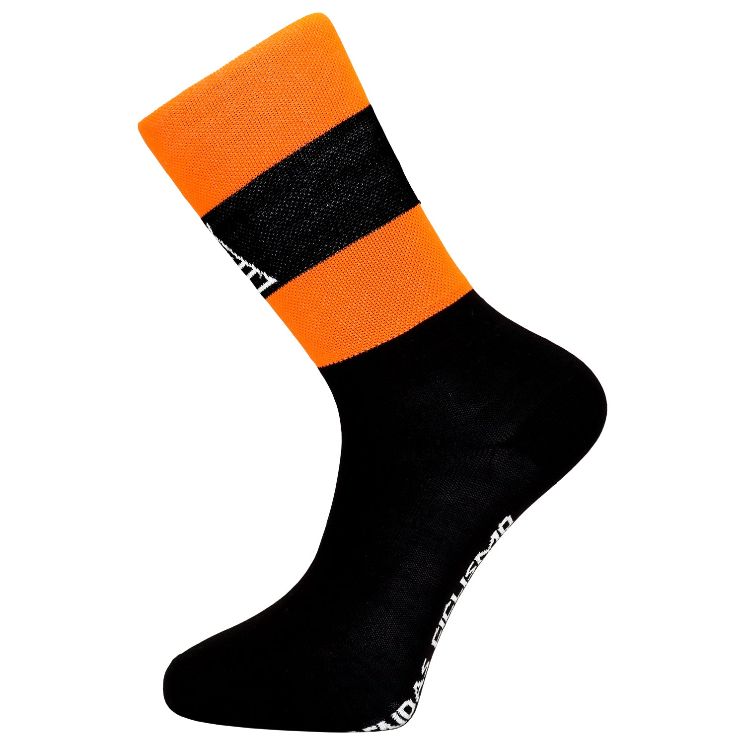 Prendas Ciclismo Fluoro Orange Tall Coolmax Socks