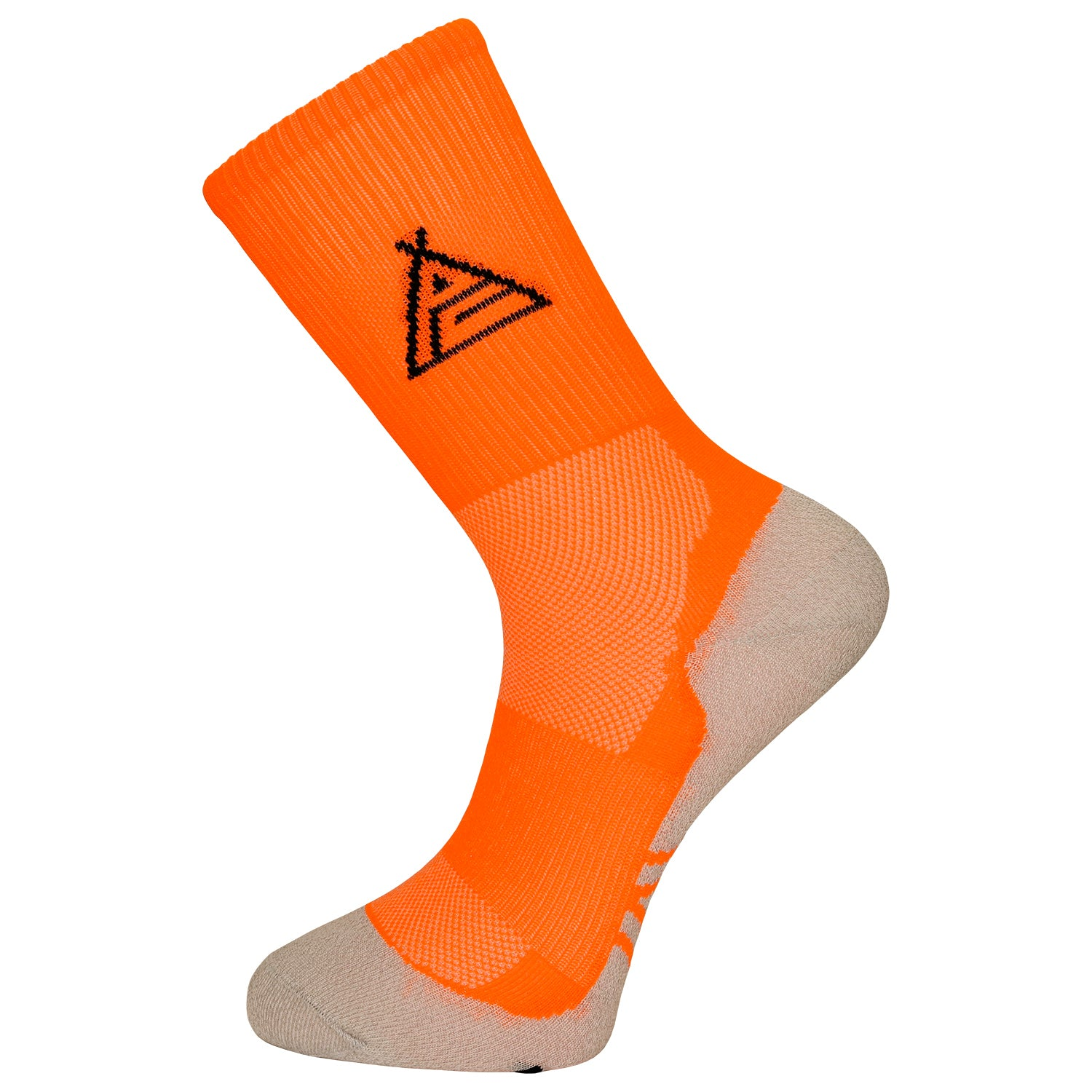 Prendas Spring/Summer Dryarn-Carbon Fluro Orange Socks