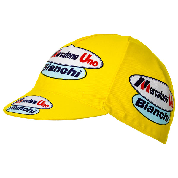 Mercatone Uno Bianchi Retro Cycling Cap | Headwear