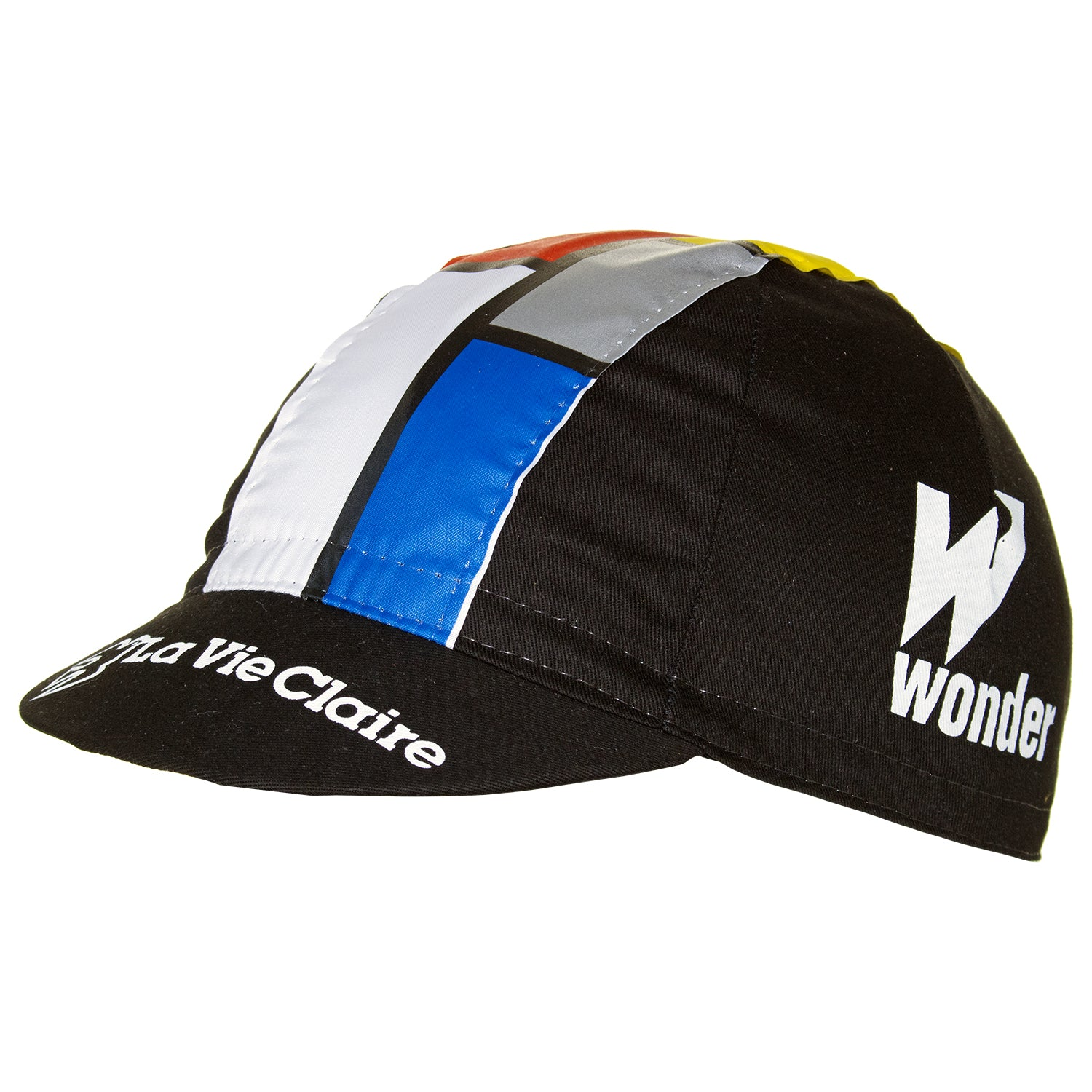 b2179a803ab La Vie Claire Wonder Radar Retro Black Cotton Cycling Cap