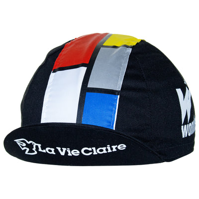 La Vie Claire/Wonder/Radar Retro Black Cotton Cycling Cap