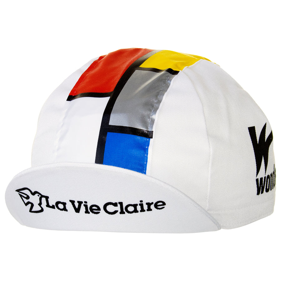La Vie Claire/Wonder/Radar Retro White Cotton Cycling Cap
