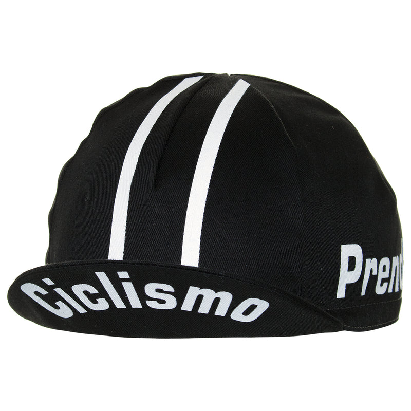Prendas Classic Black Cotton Cycling Cap