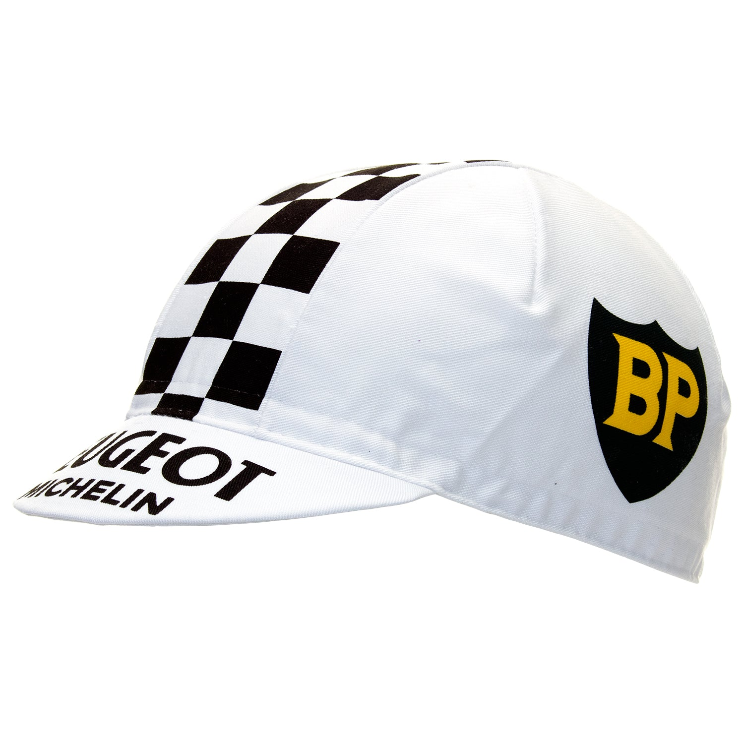 Peugeot BP Retro White Cotton Cycling Cap
