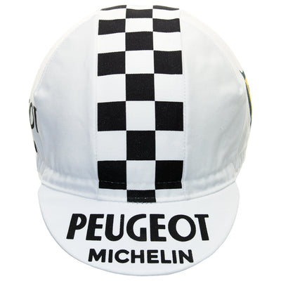 Peugeot Retro White Cotton Cycling Cap