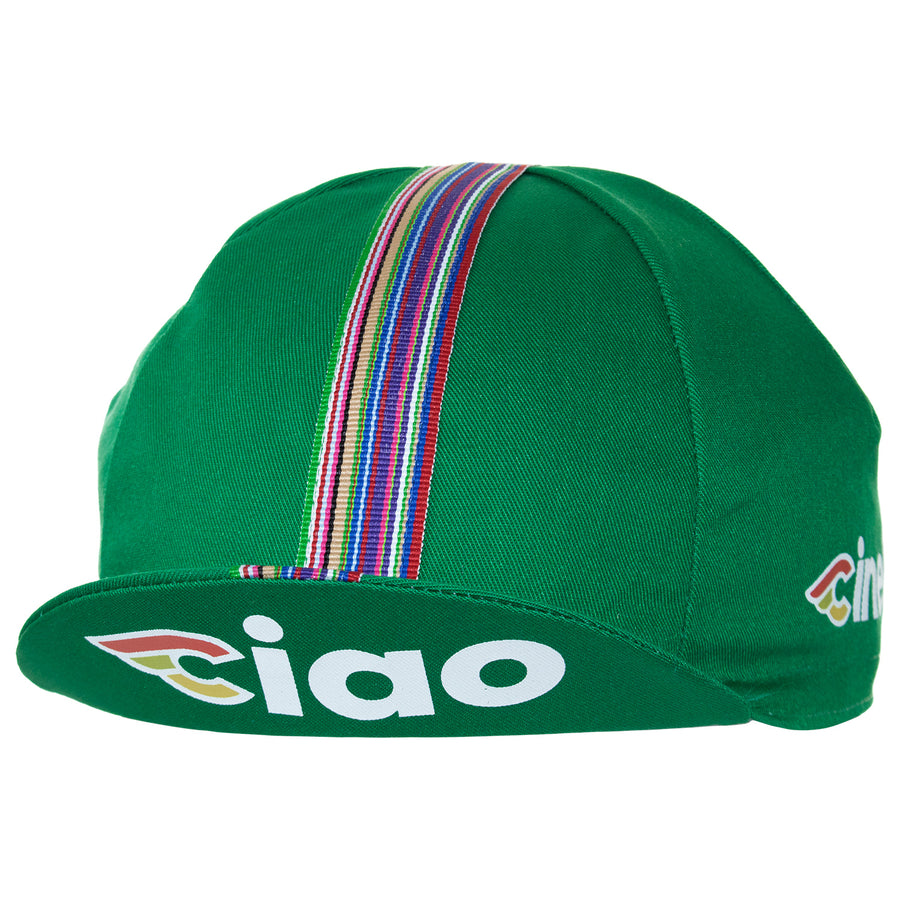 Cinelli Ciao Green Cotton Cycling Cap
