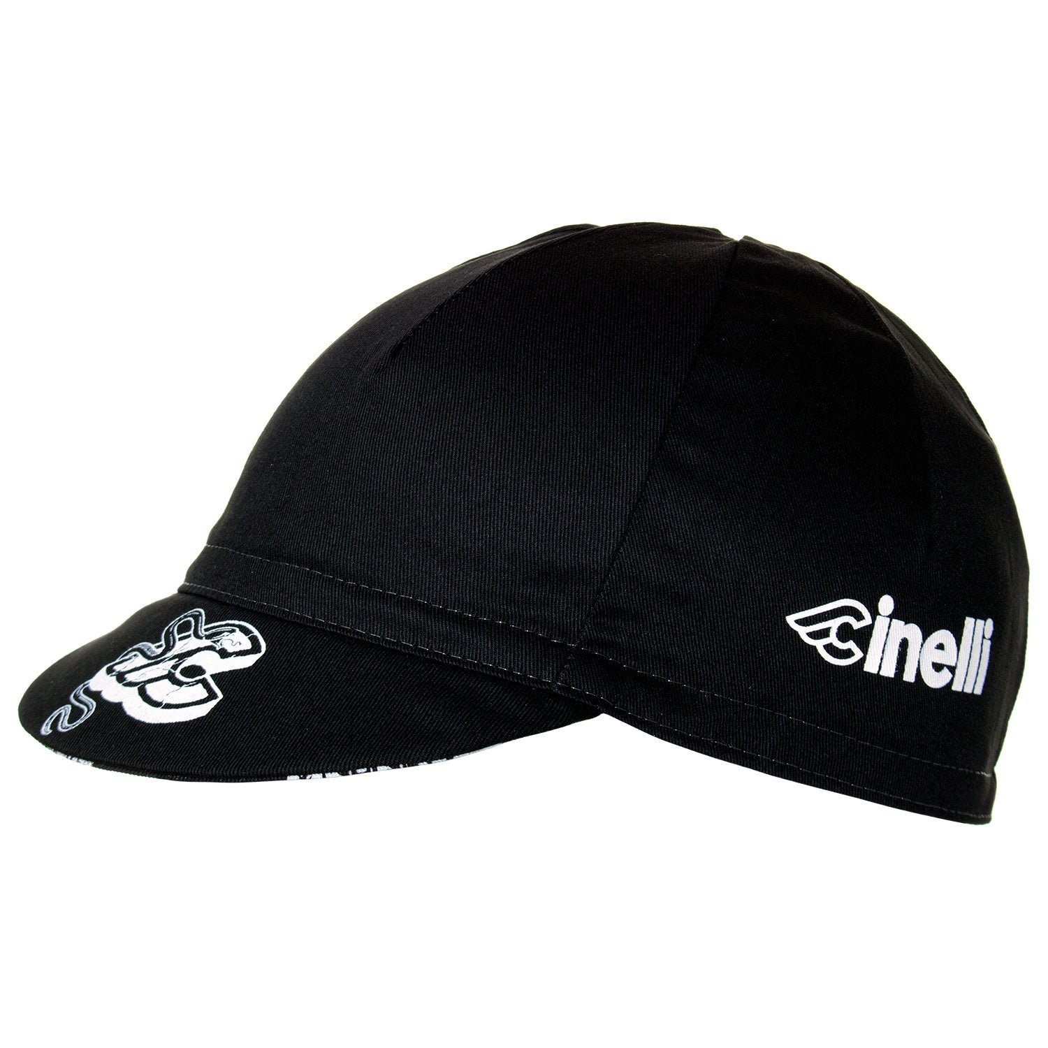 Cinelli Mike Giant Black Cotton Cycling Cap