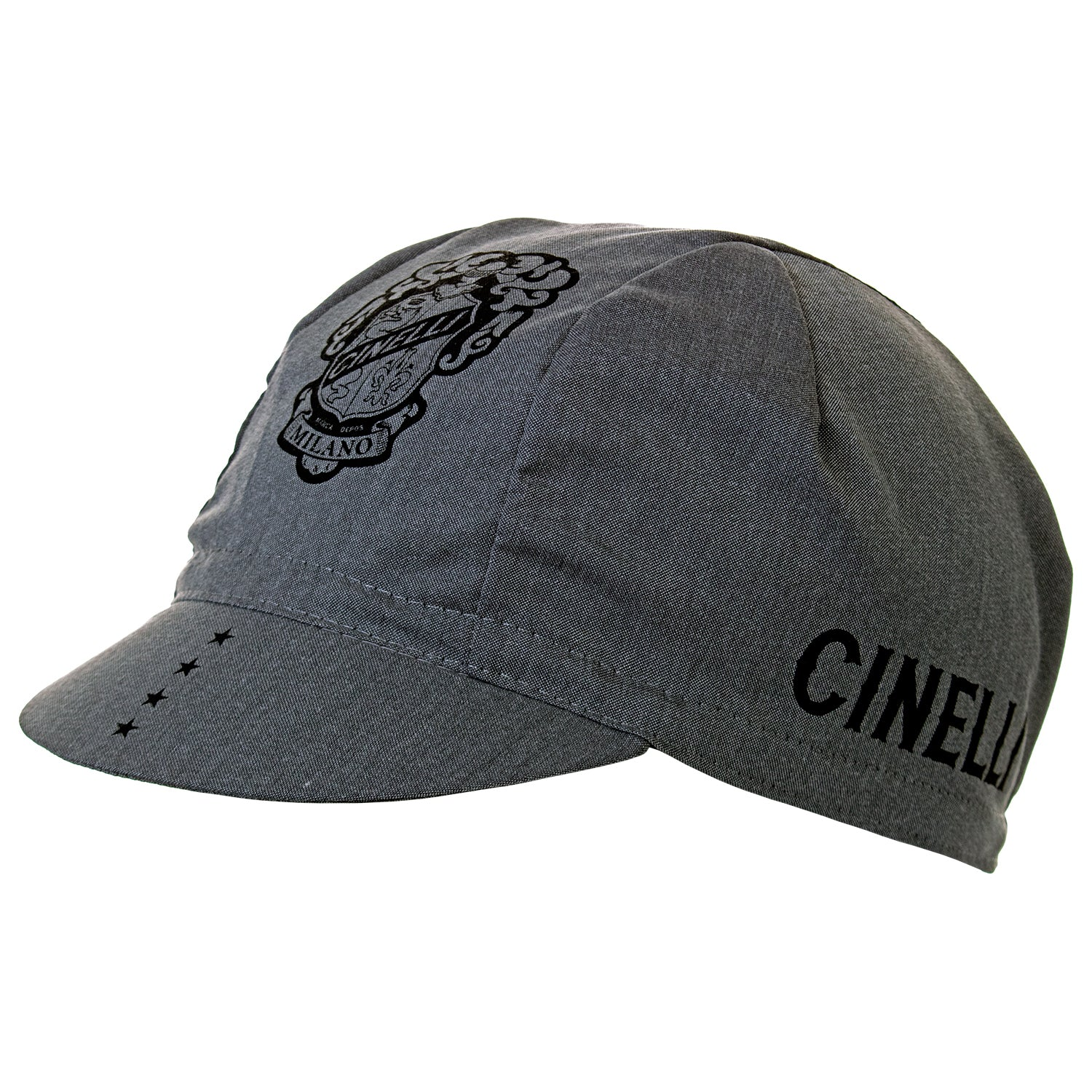 Cinelli Crest Grey Cotton Cycling Cap