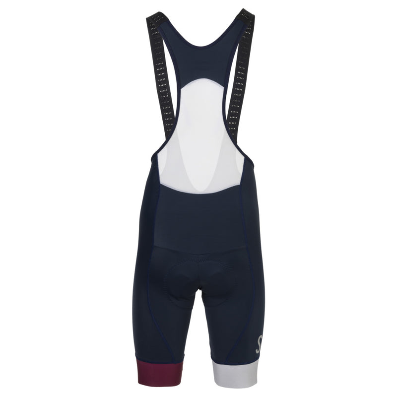 Six6 Deep Blue/Fig Bib shorts