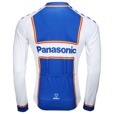 Panasonic retro long sleeve jersey from the back