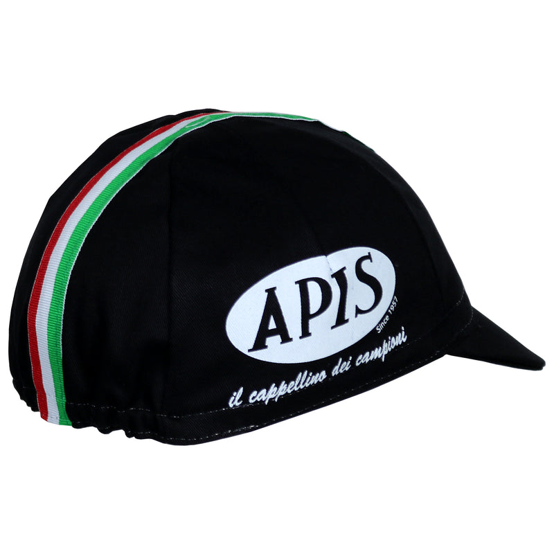 Black / Italian Cycling Cap