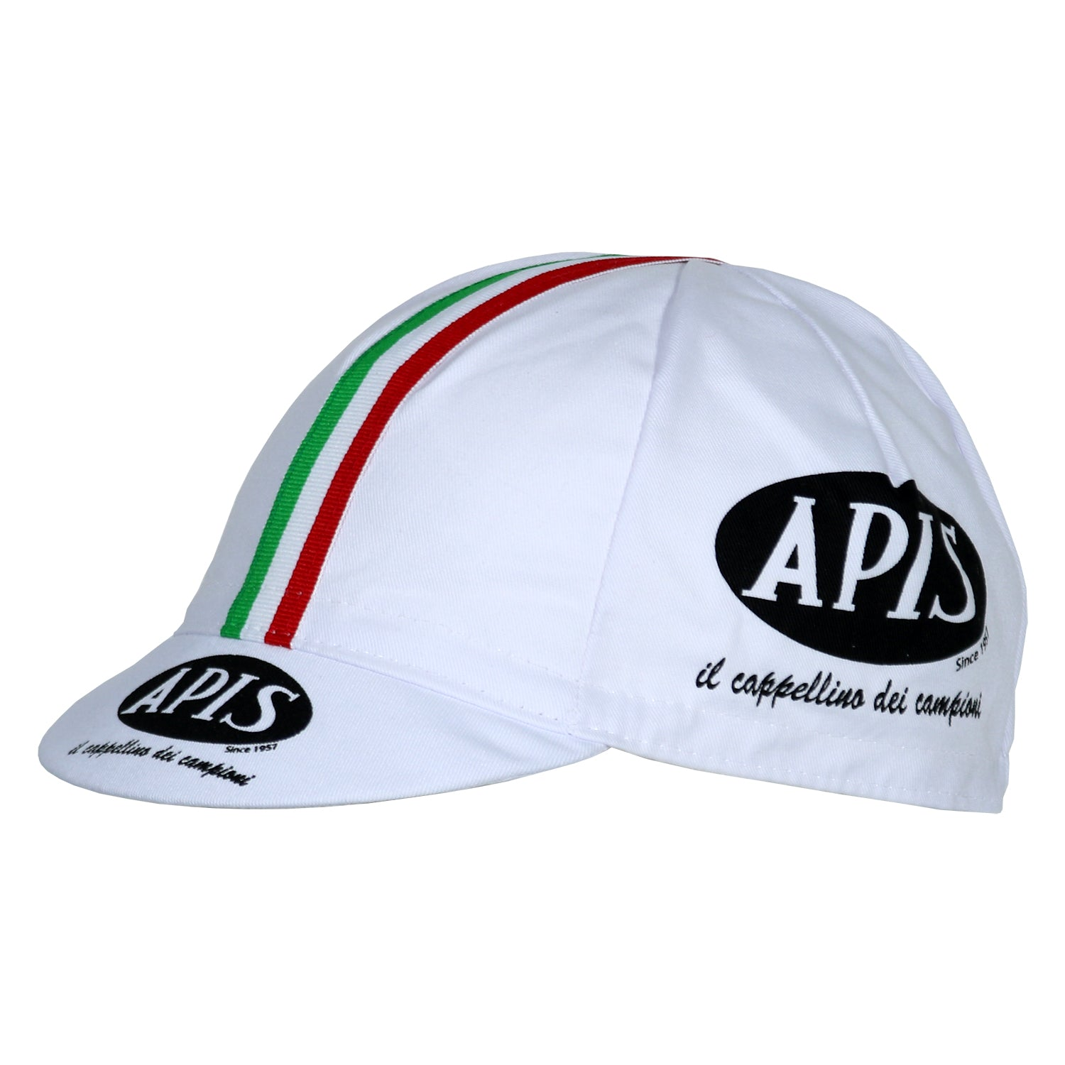 White / Italian Cycling Cap