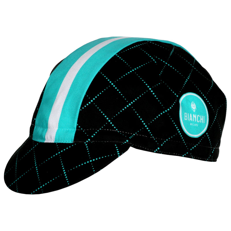 Bianchi Cycling Cap - Black Check SS2020