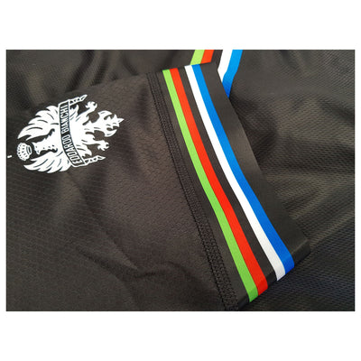 bianchi milano black cycling jersey sleeves