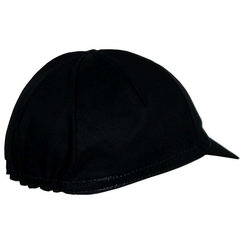 Black Cycling Cap