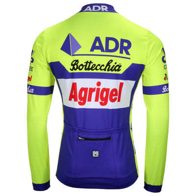 Back of the ADR Agrigel Bottecchia Long Sleeve retro jersey by Santini.