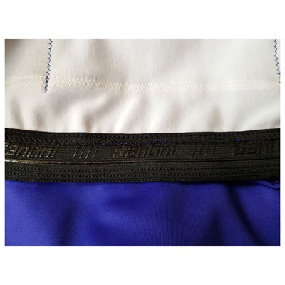 A Santini silicon gripper on the inside of the ADR retro long sleeve jersey.