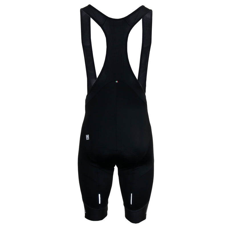 Front of the black Santini Karma Evolution Bibshorts
