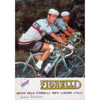 Team postcard featuring Charly Gaul in a Gazzola jersey